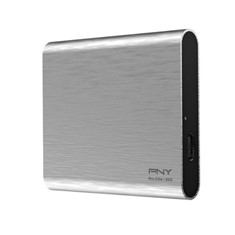 DISCO DURO EXTERNO SOLIDO HDD SSD PNY PRO ELITE CS2060 PLATA 250GB USB